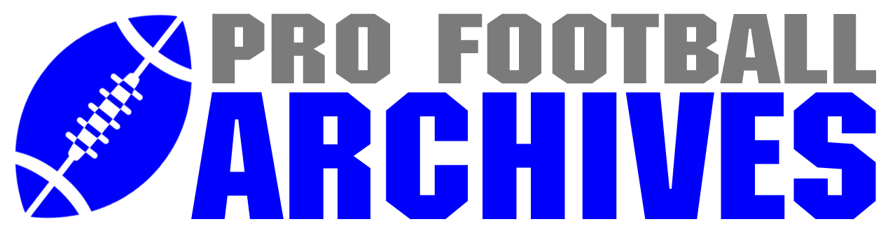 Pro Football Archives logo.